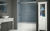 Fleurco | Gemini 60 Tub Bypass, Frameless Sliding Doors Chrome