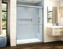 Fleurco | Cordoba Plus In-Line Bypass 60,  Semi-Frameless Sliding Doors Chrome