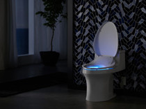 Kohler C3-230 Elongated Bidet Seat with Touchscreen Remote Control and Nightlight Technology