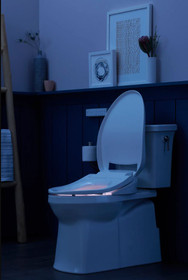 Kohler C3-430 Elongated Closed Front Bidet Seat with Heated Seat, Quiet-Close Lid, Quiet-Release Hinges, and LED Lighting