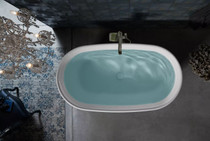 "Kohler Memoirs 66"" Lithocast Freestanding Bath with Center Toe-tap Drain"