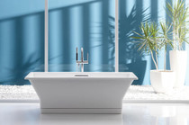 "Kohler 67"" x 31.5"" Freestanding Soaking Tub with Center Drain from the Reve Collection"