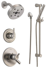 Delta  Monitor 17 Series Dual Function Pressure Balanced Shower System with Integrated Volume Control, Shower Head, and Hand Shower - Includes Rough-In Valves