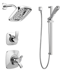 Delta Monitor  17 Series Pressure Balanced Shower System with Shower Head, Handshower, and Slide Bar - Includes Integrated Volume Control and Rough-In Valves