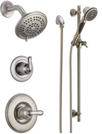 Delta Monitor 14 Series Single  Function  Pressure Balanced Shower System with Shower Head, and Hand Shower - Includes Rough-In Valves