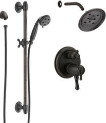 Delta Cassidy Pressure Balanced Shower System with Shower Head, Shower Arm, Hand Shower, Slide Bar, Hose, Valve Trim and MultiChoice Rough-In - v2