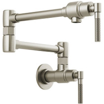 Brizo Litze 4 GPM Wall Mounted Double Handle Pot Filler with Knurled Handles - Limited Lifetime Warranty