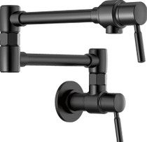 "Brizo Euro Wall Mounted Pot Filler with 22"" Double Jointed Swinging Spout - Includes Lifetime Warranty"