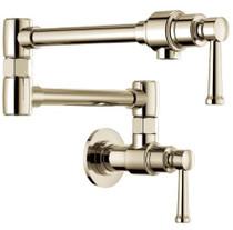 Brizo Artesso 4 GPM Wall Mounted Single Hole Kitchen Pot Filler Faucet