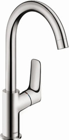 Hansgrohe Logis Widespread Bathroom Faucet with EcoRight and ComfortZone Technologies - Drain Assembly Included