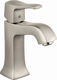 Hansgrohe Metris C 1.2 Single Hole Bathroom Faucet with EcoRight, Quick Clean, and ComfortZone Technologies