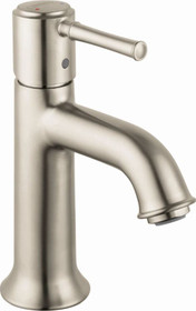 Hansgrohe Talis C 1.2 GPM Single Hole Bathroom Faucet with EcoRight, Quick Clean, and ComfortZone Technologies - Drain Assembly Included