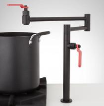 Signature Hardware Edison Deck-Mount Pot Filler with Lever Handles