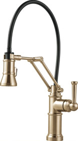 Brizo Artesso Pull-Down Kitchen Faucet with Dual Jointed Articulating Arm and Magnetic Docking Spray Head - Limited Lifetime Warranty