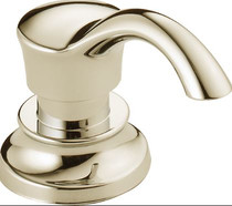 """Delta Cassidy 3-1/2"""" Soap / Lotion Dispenser and Bottle"""