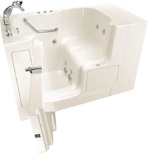 """American Standard Value 52"""" Walk-In Whirlpool / Air Bathtub with Left-Hand Drain, Comfort Jets, and Quick Drain Pump - Roman Tub Filler and Handshower Included"""