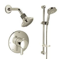 Grohe Cosmopolitan Pressure Balance Shower System. Multi-Function Shower Head, Hand Shower, Slide Bar & Rough-in Valve Included.