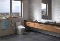 TOTO Aquia IV 0.8 / 1.28 GPF 1 Piece Elongated Chair Height Dual Flush Toilet - Washlet S550e SoftClose Seat Included