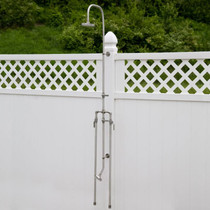 Signature Hardware Deluxe Outdoor Shower Mixer Shower Head with Foot Shower