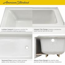 "American Standard Studio 60"" Soaking Bathtub for Drop In Installations with Left or Right Drain"