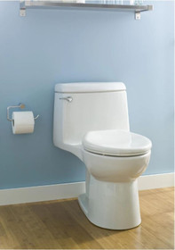 American Standard Champion 4 Elongated One-Piece Toilet with EverClean Surface, Right Height Bowl - Includes Slow-Close Seat