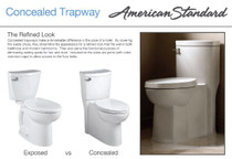 American Standard Cadet 3 Elongated Two-Piece Toilet with Concealed Trapway, EverClean Surface, PowerWash Rim and Right Height Bowl - Includes Slow-Close Seat