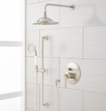 """Signature Hardware Cooper Shower System with 12"""" Rainfall Shower and Hand Shower"""
