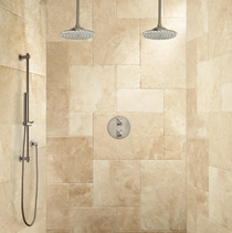 Signature Hardware Bisset Thermostatic Dual Shower System with Hand Shower