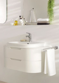 Grohe Eurostyle Single Hole Bathroom Faucet with SilkMove Technology - Includes Drain Assembly