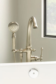 Kohler Kelston Floor Mounted Tub Filler with 1.75 GPM Hand Shower and MasterClean Technology - Less Mounting Block