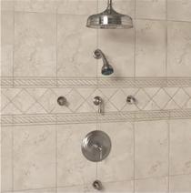 "Signature Hardware Glenley Pressure Balance System - 12"" Rainfall Shower - Body Sprays"