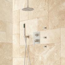 "Signature Hardware Trimble 12"" Rainfall Shower System with Hand Shower, 3 Body Sprays"