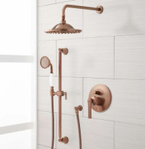 "Signature Hardware Cooper Shower System with 10"" Rainfall Shower and Hand Shower"