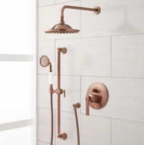 "Signature Hardware Cooper Shower System with 8"" Rainfall Shower and Hand Shower"