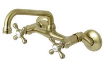 Kingston Brass Kingston 1.8 GPM Wall Mounted Bridge Kitchen Faucet