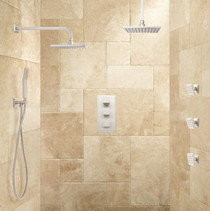 Signature Hardware Ryle Dual Wall-Mount & Rainfall Shower System with Hand Shower & Body Sprays