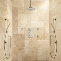 "Signature Hardware Monette Thermostatic Shower System - 10"" Rainfall Shower Head"