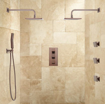 Signature Hardware Ryle Dual Wall-Mount Rainfall Shower System with Hand Shower & Body Sprays