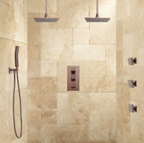 Signature Hardware Ryle Dual Rainfall Shower System with Hand Shower & Body Sprays