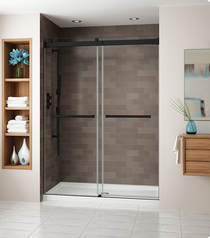 Fleurco NG160 Gemini Frameless Bypass 60 Sliding Shower Doors