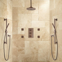 "Signature Hardware Monette Thermostatic Shower System - 8"" Rainfall Shower Head"