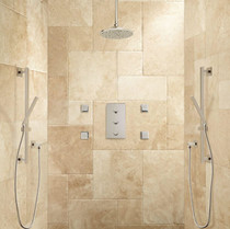 "Signature Hardware Monette Thermostatic Shower System - 6"" Rainfall Shower Head"