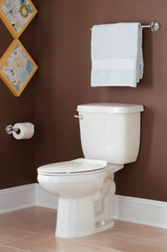"""PROFLO 1.28 GPF Two-Piece Elongated Toilet with Left Hand Trip Lever and 12"""" Rough In"""
