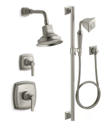 Kohler Margaux Rite-Temp Pressure Balanced Shower System with Shower Head and Hand Shower