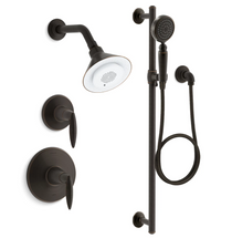 Kohler Moxie Rite-Temp Pressure Balanced Shower System with Shower Head and Hand Shower
