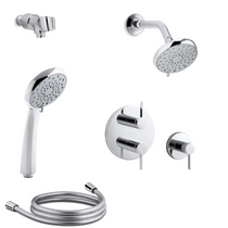 Kohler Awaken Thermostatic Eco Shower System with Multi Function B110 Shower Head, Hand Shower, Stacked Valve Trims