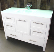 "Ocean 48"" White bathroom Vanity"