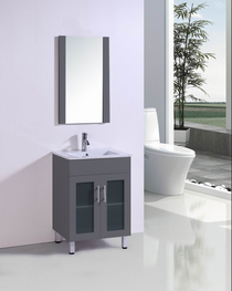 "Jane 24"" Bathroom Vanity in Gray"