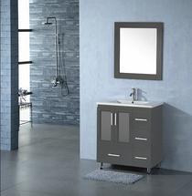 """Luxe 30"""" Gray Bathroom Vanity"""