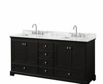 "Naples 72"" Espresso Double Sink Bathroom Vanity"